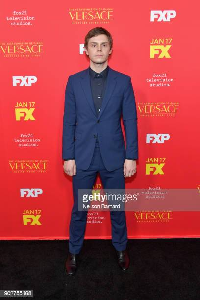 Actor Evan Peters attends the premiere of FX's 'The Assassination Of Gianni Versace American Crime Story' at ArcLight Hollywood on January 8 2018 in...