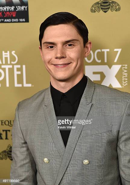 Actor Evan Peters attends the premiere screening of FX's 'American Horror Story Hotel' at Regal Cinemas LA Live on October 3 2015 in Los Angeles...