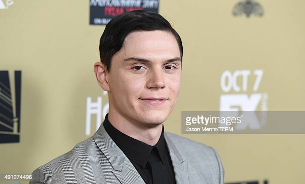 Actor Evan Peters attends the premiere screening of FX's 'American Horror Story: Hotel' at Regal Cinemas L.A. Live on October 3, 2015 in Los Angeles,...