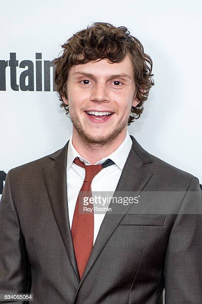 Actor Evan Peters attends the 'XMen Apocalypse' New York Screening at Entertainment Weekly on May 24 2016 in New York City
