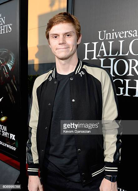 Actor Evan Peters attends Universal Studios 'Halloween Horror Nights' opening night at Universal Studios Hollywood on September 16 2016 in Universal...