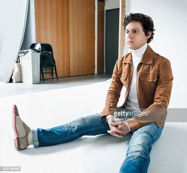 Actor Evan Peters is photographed for August Man on March 14, 2016 in Los Angeles, California.