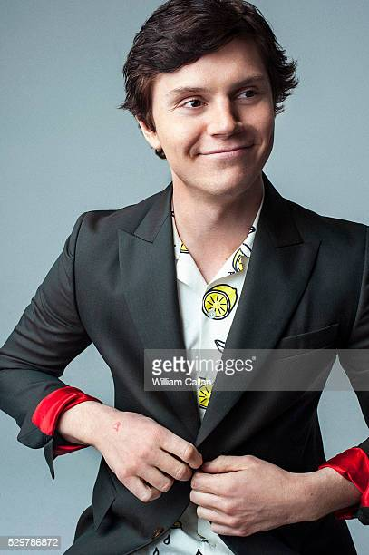 Actor Evan Peters is photographed for August Man on March 14 2016 in Los Angeles California PUBLISHED IMAGE