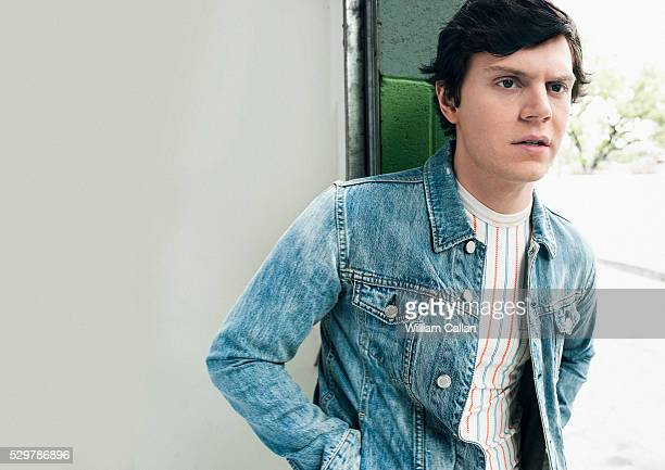 Actor Evan Peters is photographed for August Man on March 14 2016 in Los Angeles California