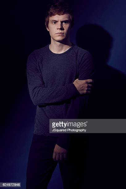 Actor Evan Peters is photographed for The Wrap on August 18 2016 in Los Angeles California