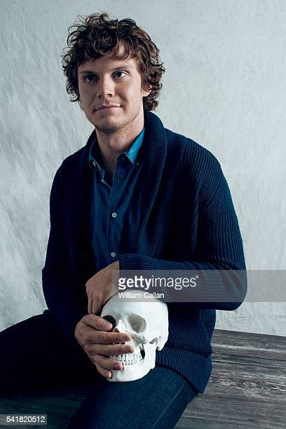 Actor Evan Peters is photographed for The Wrap on June 14 2016 in Los Angeles California
