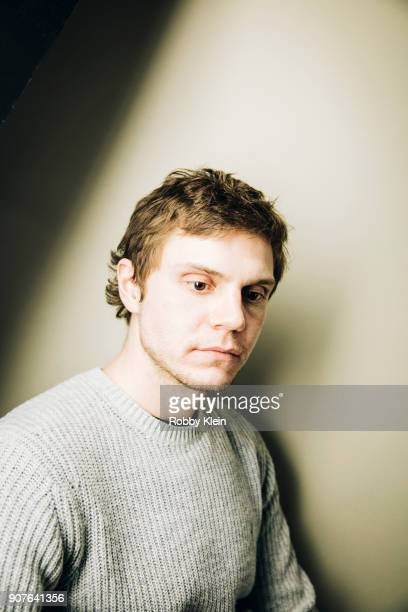 Actor Evan Peters poses for a portrait in the YouTube x Getty Images Portrait Studio at 2018 Sundance Film Festival on January 19 2018 in Park City