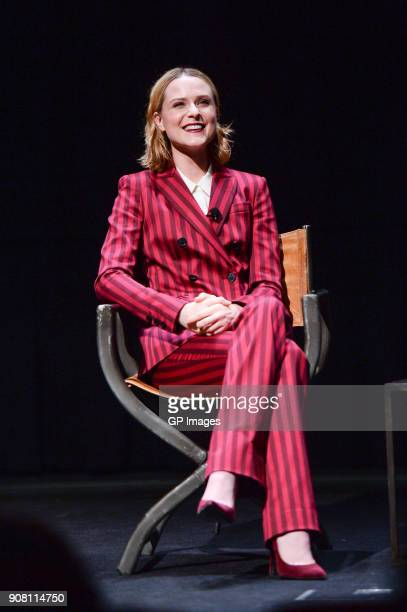 Actor Evan Rachel Wood attends the TIFF presents 'In Conversation With Evan Rachel Wood' at TIFF Bell Lightbox on January 20 2018 in Toronto Canada