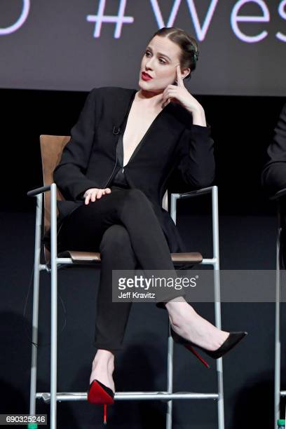 Actor Evan Rachel Wood speaks onstage during HBO's 'Westworld' FYC panel at the Saban Media Center on May 30 2017 in North Hollywood California