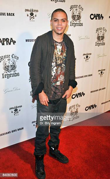 Actor Evan Ross attends the Musicians Give Back Charity Event at Green Door on December 16 2008 in Hollywood California