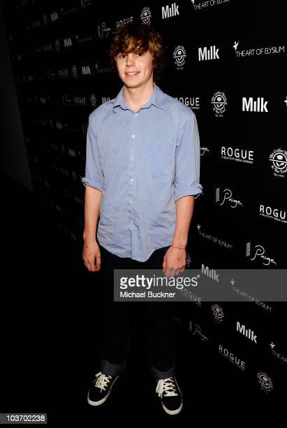Actor Evan Turner attends the Second Annual Art of Elysium Genesis Event at Milk Studios on August 28 2010 in Hollywood California