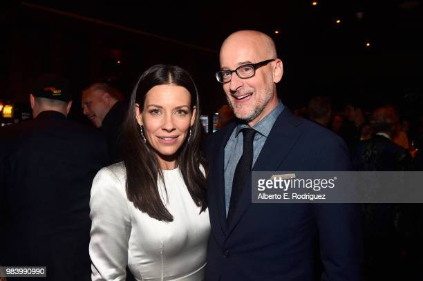 Actor Evangeline Lilly and Director Peyton Reed attend the Los Angeles Global Premiere for Marvel Studios' 'AntMan And The Wasp' at the El Capitan...