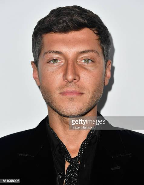 Actor Evangelo Bousis attends the amfAR Gala at Ron Burkle's Green Acres Estate on October 13 2017 in Beverly Hills California