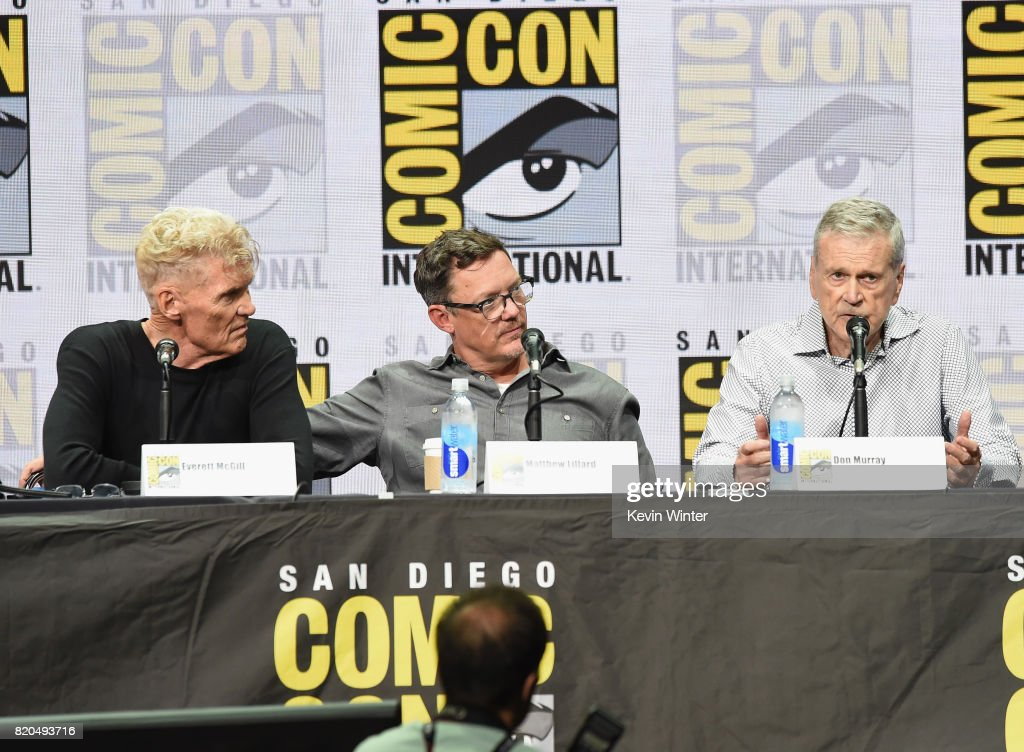 Actor Everett McGill, Matthew Lillard and Don Murray attend 'Twin Peaks: A Damn Good Panel' during Comic-Con International 2017 at San Diego Convention Center on July 21, 2017 in San Diego, California.