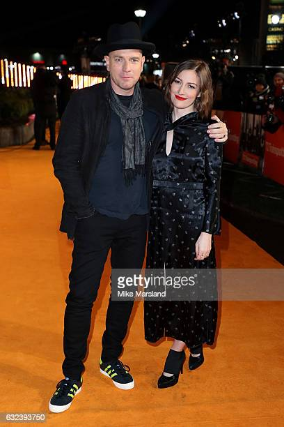 Actor Ewan McGregor and actress Kelly Macdonald attend the 'T2 Trainspotting' world premiere on January 22 2017 in Edinburgh United Kingdom