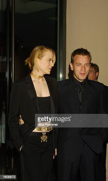Actor Ewan McGregor and actress Nicole Kidman arrive at the 5th Annual Hollywood Film Festival Awards gala August 6 2001 at the Beverly Hilton Hotel...