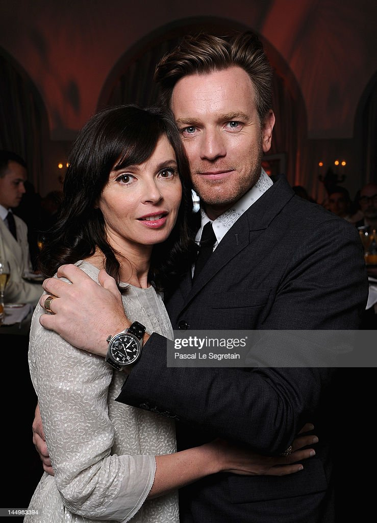 Actor Ewan McGregor (R) and Eve Mavrakis attend the exclusive Filmmakers Dinner during the Cannes International Film Festival hosted by Swiss watch manufacturer IWC Schaffhausen in partnership with Finch's Quarterly Review at the famous Hotel du Cap-Eden-Roc on May 21, 2012 in Cap d'Antibes, France.