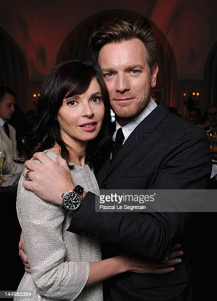 Actor Ewan McGregor and Eve Mavrakis attend the exclusive Filmmakers Dinner during the Cannes International Film Festival hosted by Swiss watch...