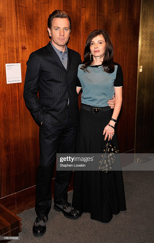 Actor Ewan McGregor and Eve Mavrakis attend 'The Impossible' New York special screening at Museum of Art and Design on December 12, 2012 in New York City.