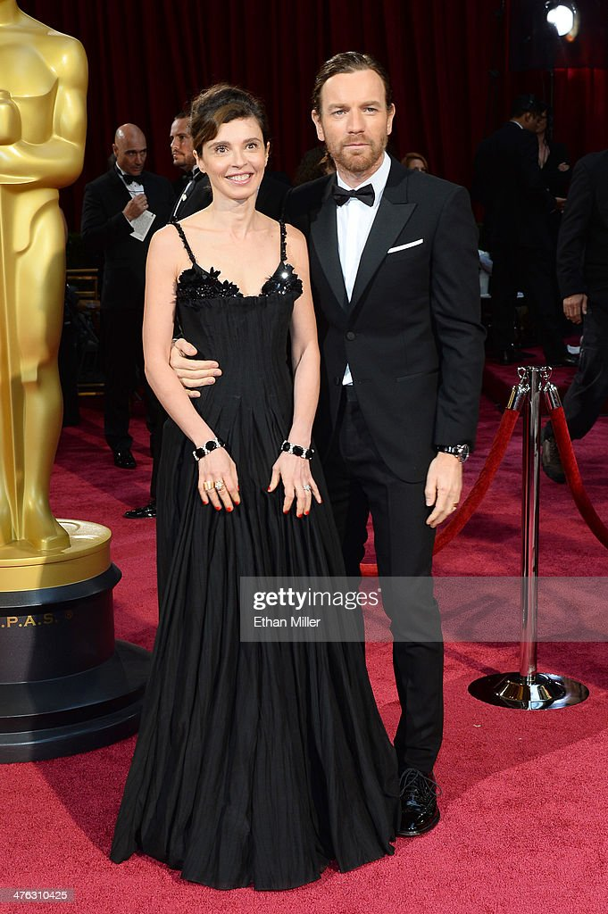 Actor Ewan McGregor (R) and Eve Mavrakis attend the Oscars held at Hollywood & Highland Center on March 2, 2014 in Hollywood, California.
