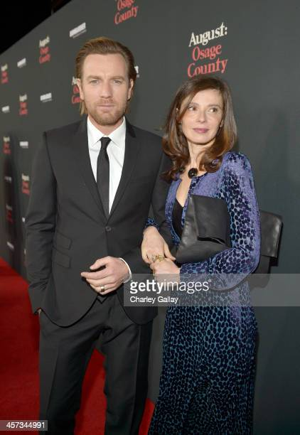 """Actor Ewan McGregor and Eve Mavrakis attend the LA premiere Of """"August: Osage County"""" presented by The Weinstein Company in partnership with..."""