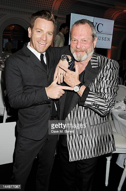 Actor Ewan McGregor and filmmaker Terry Gilliam attend the IWC and Finch's Quarterly Review Annual Filmmakers Dinner at Hotel Du CapEden Roc on May...