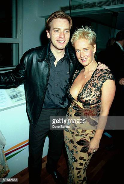 Actor Ewan McGregor and TV presenter Paula Yates at the UK movie premiere of 'Rogue Trader ' held on Juner 22 1999 in London