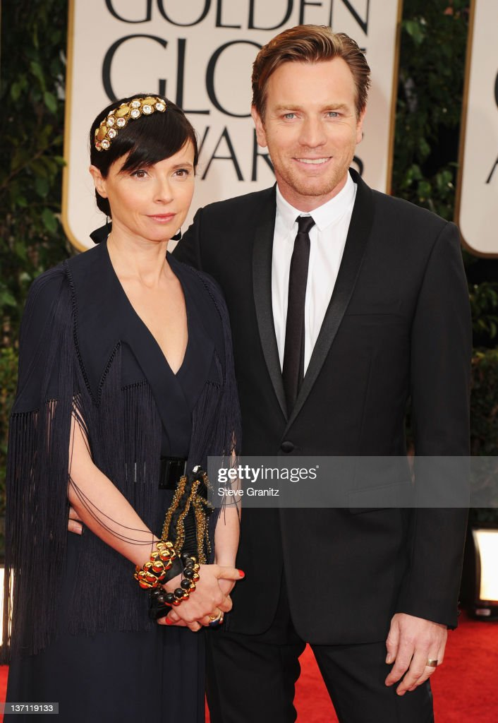 Actor Ewan McGregor (R) and wife Eve Mavrakis arrive at the 69th Annual Golden Globe Awards held at the Beverly Hilton Hotel on January 15, 2012 in Beverly Hills, California.