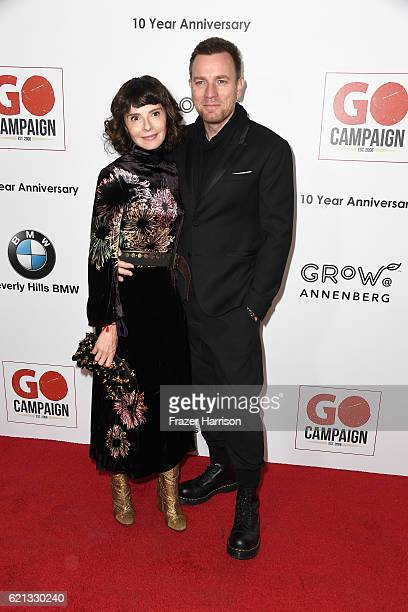 Actor Ewan McGregor and wife Eve Mavrakis attend the 10th Annual GO Campaign Gala at Manuela on November 5 2016 in Los Angeles California
