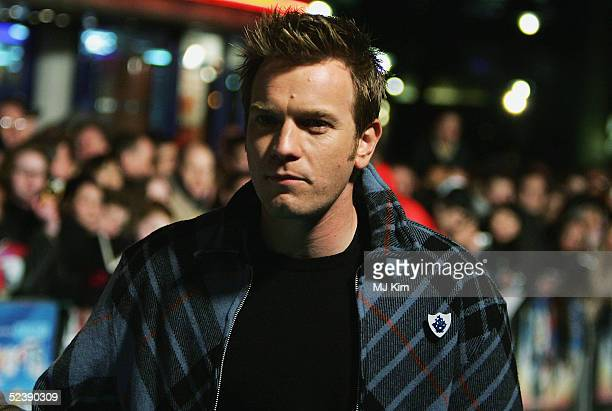 Actor Ewan McGregor arrives at the UK Premiere of the animated film 'Robots' at Vue Leicester Square on March 14 2005 in London