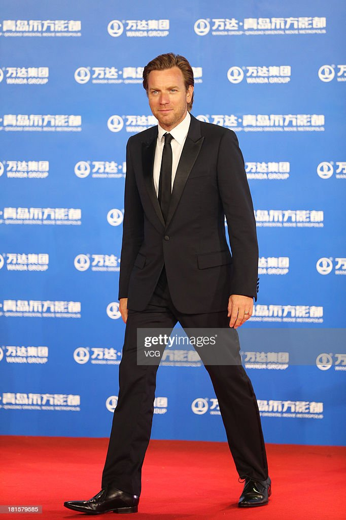 Actor Ewan McGregor arrives on the red carpet during the opening night of the Qingdao Oriental Movie Metropolis at Qingdao Beer City on September 22, 2013 in Qingdao, China.
