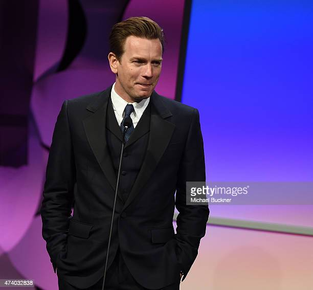 Actor Ewan McGregor attends the 40th Anniversary Gracies Awards at The Beverly Hilton Hotel on May 19 2015 in Beverly Hills California