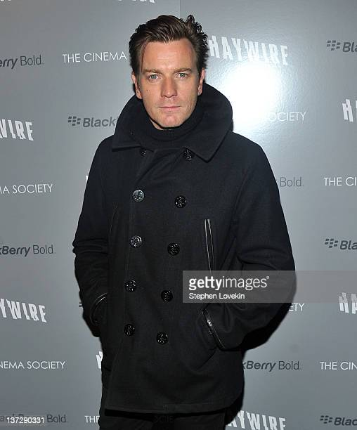 Actor Ewan McGregor attends the Cinema Society Blackberry Bold screening of Haywire at Landmark Sunshine Cinema on January 18 2012 in New York City