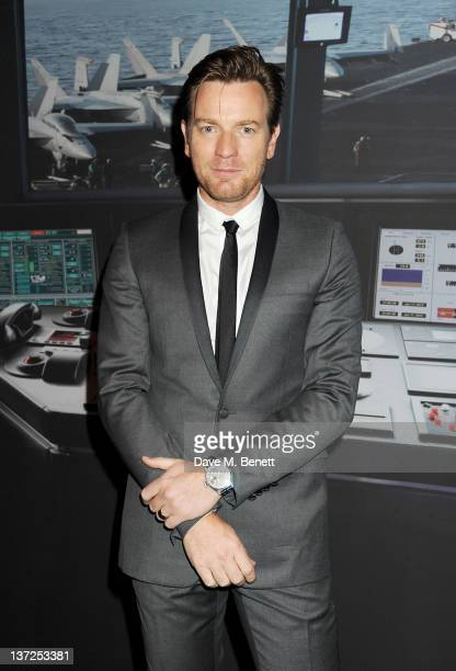Actor Ewan McGregor attends the IWC Top Gun Gala Event at 22nd SIHH High Jewellery Fair on at the Palexpo Exhibition Hall January 17, 2012 in Geneva,...