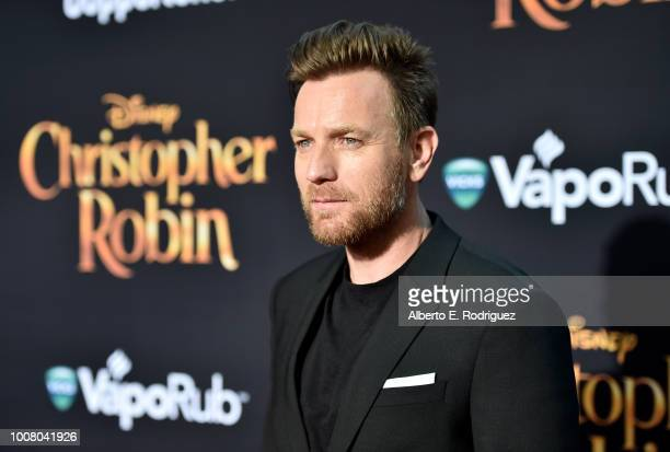 Actor Ewan McGregor attends the world premiere of Disney's 'Christopher Robin' at the Main Theater on the Walt Disney Studios lot in Burbank CA on...