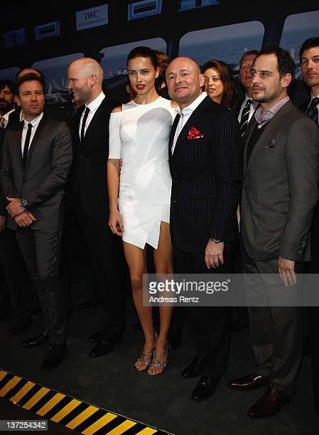 Actor Ewan McGregor, director Marc Forster, model Adriana Lima, IWC Schaffhausen CEO George Kern, actor Moritz Bleibtreu and guests attend the IWC...