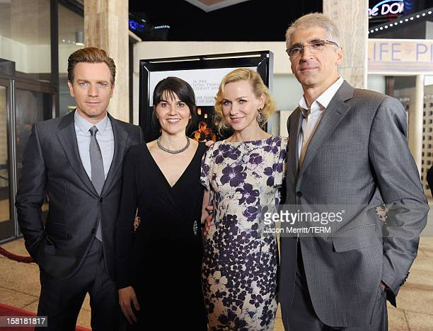Actor Ewan McGregor Maria Belon actress Naomi Watts and Enrique Alvarez attend the Los Angeles premiere of Summit Entertainment's The Impossible at...