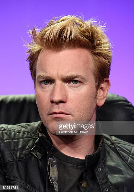 Actor Ewan McGregor of Long Way Down speaks during day four of the FOX Reality Channel 2008 Summer Television Critics Association Press Tour held at...