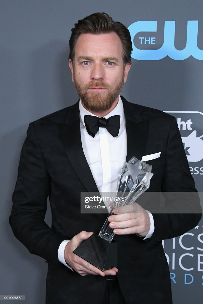 Actor Ewan McGregor, recipient of the Best Actor in a Movie Made for TV or Limited Series award for 'Fargo', poses in the press room during The 23rd Annual Critics' Choice Awards at Barker Hangar on January 11, 2018 in Santa Monica, California.