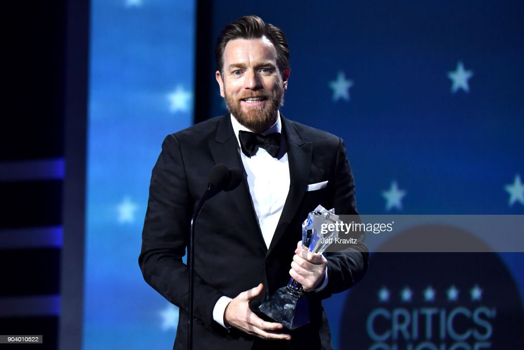 Actor Ewan McGregor speaks on stage at The 23rd Annual Critics' Choice Awards at Barker Hangar on January 11, 2018 in Santa Monica, California.