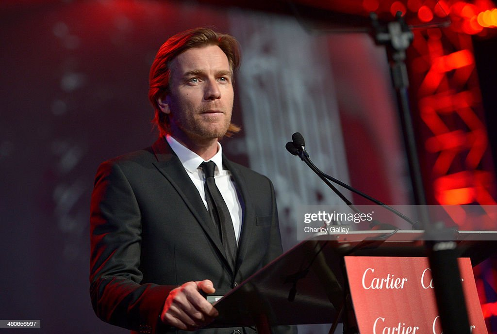 Actor Ewan McGregor speaks onstage during the 25th annual Palm Springs International Film Festival awards gala at Palm Springs Convention Center on January 4, 2014 in Palm Springs, California.