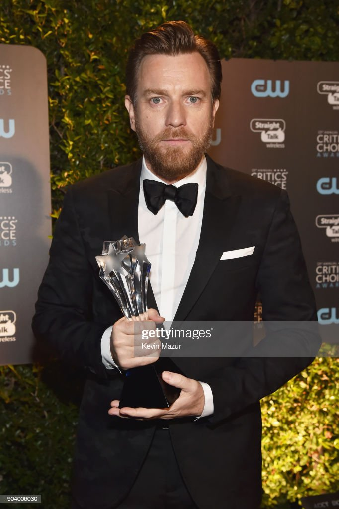 Actor Ewan McGregor, winner of the Best Actor in a Movie/Limited Series award for 'Fargo,' attends The 23rd Annual Critics' Choice Awards at Barker Hangar on January 11, 2018 in Santa Monica, California.