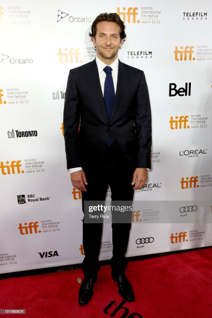 Actor/ Executive Producer Bradley Cooper attends the 'Silver Linings Playbook' premiere during the 2012 Toronto International Film Festiva at Roy Thomson Halll on September 8, 2012 in Toronto, Canada.