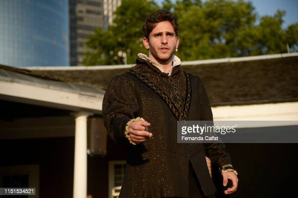 Actor Eyal Bukobza on stage at Shakespeare Downtown Presents Hamlet at Castle Clinton National Monument Battery Park on June 22 2019 in New York City