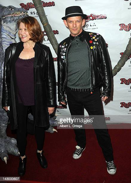 Actor Ezra Buzzington and Susan Fletcher arrive for the Wrap Party For SYFY Networks' 'Monster Man' Season 2 held at Rolling Stone Restaurant And...