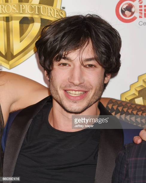 Actor Ezra Miller arrives at the CinemaCon 2017 Warner Bros Pictures presentation of their upcoming slate of films at The Colosseum at Caesars Palace...