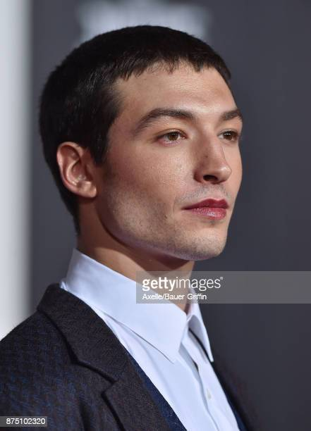 Actor Ezra Miller arrives at the premiere of Warner Bros Pictures' 'Justice League' at Dolby Theatre on November 13 2017 in Hollywood California