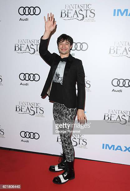 "Actor Ezra Miller attends ""Fantastic Beasts And Where To Find Them"" Canadian Premiere at Yonge-Dundas Square on November 8, 2016 in Toronto, Canada."