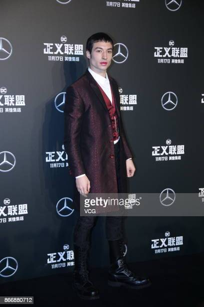 Actor Ezra Miller attends 'Justice League' premiere at 798 Art Zone on October 26 2017 in Beijing China