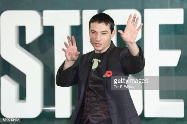 Actor Ezra Miller attends the 'Justice League' photocall at The College on November 4 2017 in London England
